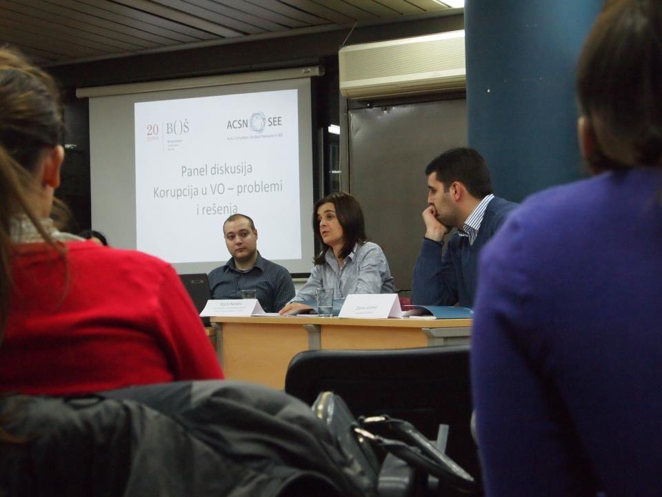 Diskusije o korupciji u visokom obrazovanju