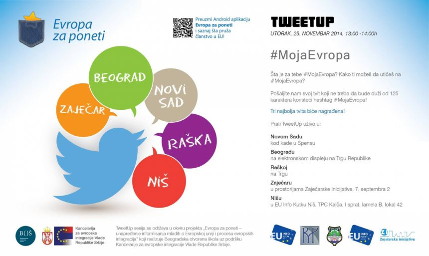 Uspešno realizovan Tweetup #MojaEvropa