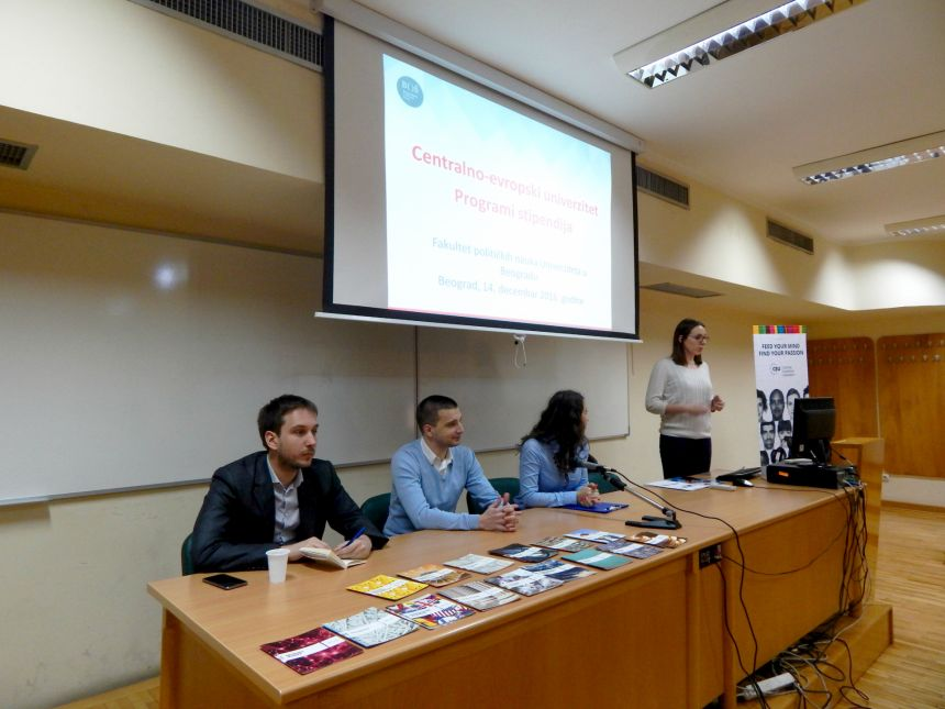 CEU scholarship program presented to students of the Faculty of Political Science