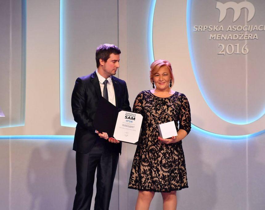 Beogradska otvorena škola dobila nagradu Srpske asocijacije menadžera za razvoj i promociju liderstva među mladima